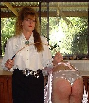 Mrs Birch with a naughty sissy
